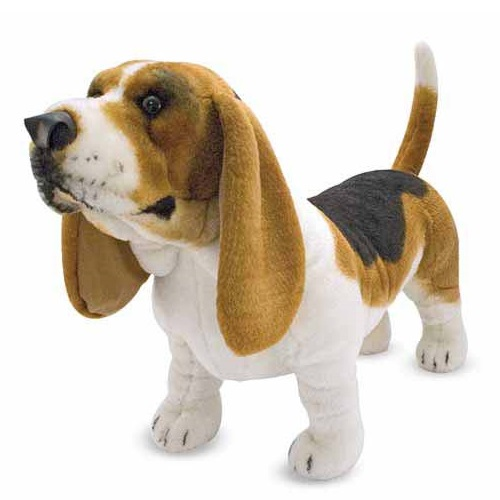 32 INCH LONG PLUSH STANDING BASSET HOUND DOG