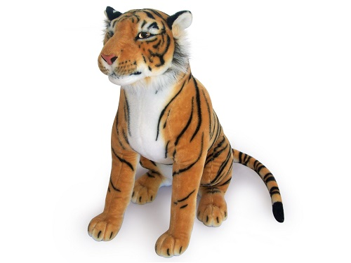 28 INCH HIGH PLUSH BROWN SITTING TOY TIGER