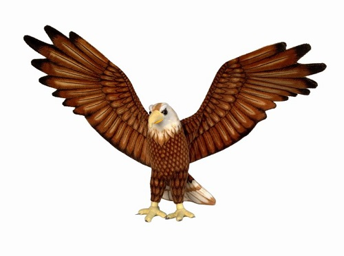 16 INCH HIGH PLUSH BROWN EAGLE WITH 48 INCH WINGSPAN