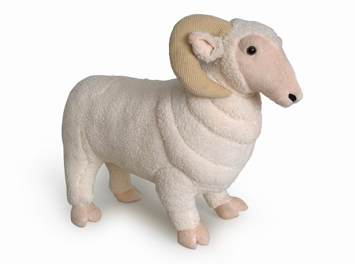 24 INCH LONG PLUSH TOY RAM