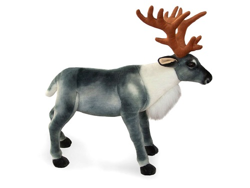 30 INCH LONG PLUSH STANDING TOY REINDEER