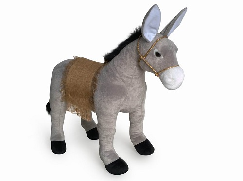 30 INCH LONG PLUSH SIT ON DONKEY WITH SADDLE