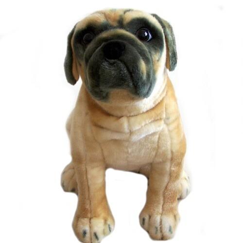 21 INCH HIGH PLUSH SITTING PUG DOG