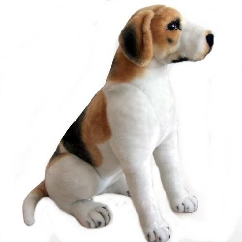 24 INCH HIGH PLUSH SITTING BEAGLE DOG