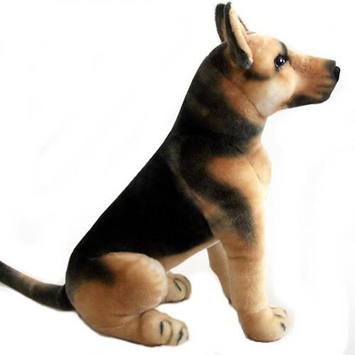24 INCH HIGH PLUSH SITTING GERMAN SHEPHERD DOG