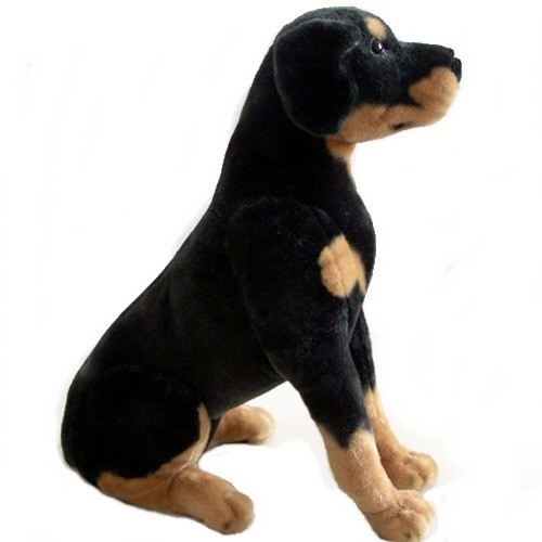 14 INCH HIGH PLUSH SITTING ROTTWEILER DOG