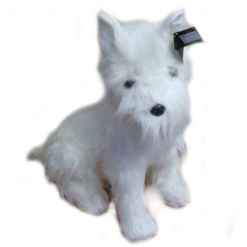 26 INCH HIGH PLUSH SITTING WEST HIGHLAND TERRIER DOG