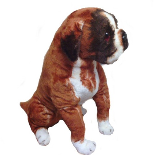 24 INCH HIGH PLUSH SITTING BOXER DOG