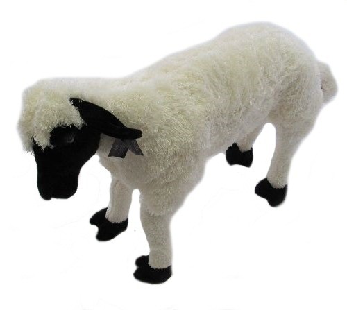 28 INCH LONG BLACK FACE PLUSH SHEEP WITH VOICEBOX