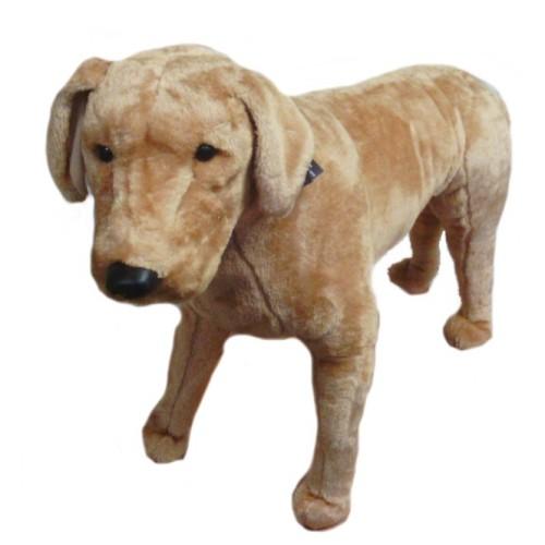31 INCH LONG PLUSH STANDING BEIGE LABRADOR DOG