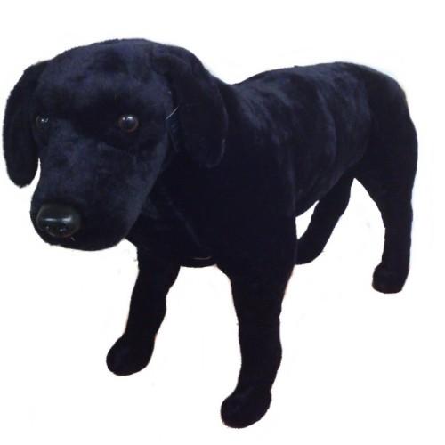 31 INCH LONG PLUSH STANDING BLACK LABRADOR DOG