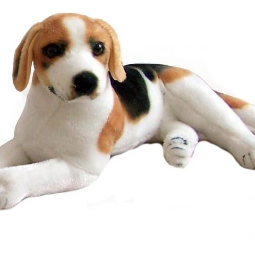 32 INCH LONG PLUSH LAYING BEAGLE DOG