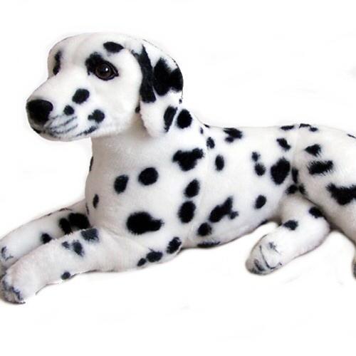 32 INCH LONG PLUSH LAYING DALMATION DOG