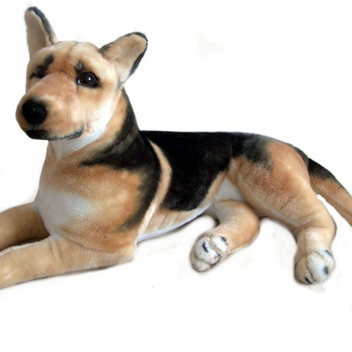14 INCH LONG PLUSH LAYING GERMAN SHEPHERD DOG