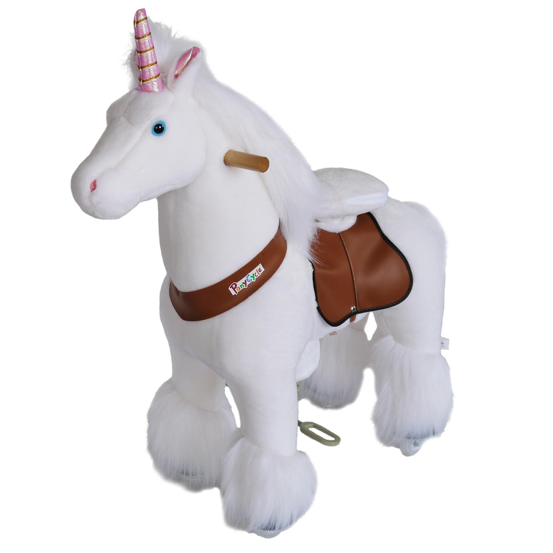 Ponycycle Toy Ride on Pony Unicorn Medium at Plush Horse ...